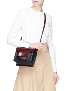 Trademark 'Greta' colourblock leather crossbody bag