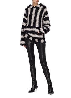 Amiri Stripe bouclé knit oversized baja hoodie