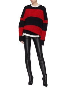 Amiri Stripe oversized bouclé sweater