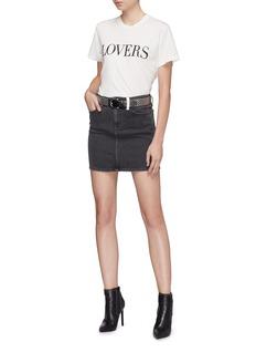 Amiri 'Lovers' glitter slogan print T-shirt