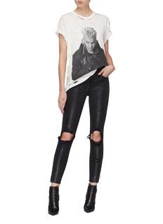Amiri 'Thrasher' ripped glitter skinny jeans