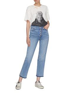 Amiri Glitter stripe outseam straight leg jeans