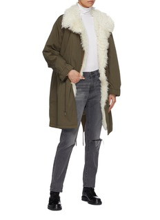 Army By Yves Salomon Shearling lined down puffer parka