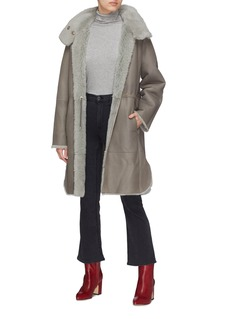 Yves Salomon Reversible lambskin shearling coat