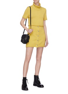 T By Alexander Wang Snap button front knit skirt