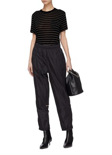 T By Alexander Wang Patch pocket stripe slub jersey T-shirt