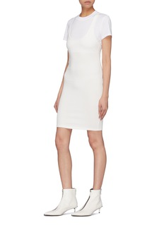 T By Alexander Wang T-shirt layered racerback tank dress