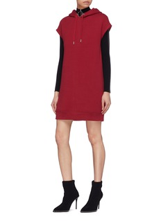 T By Alexander Wang Cap sleeve hoodie tunic dress