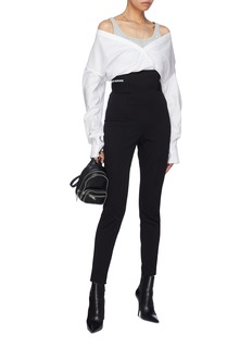 T By Alexander Wang Logo jacquard waistband suiting leggings