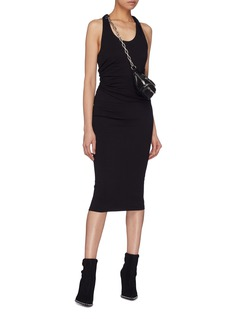T By Alexander Wang Ruched panel racerback tank dress
