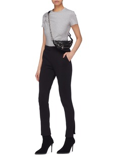 T By Alexander Wang Twist shoulder cropped T-shirt