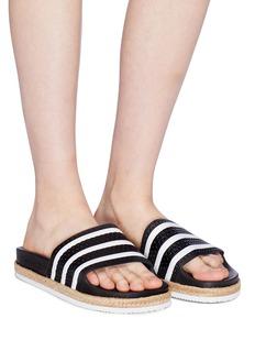 Adidas 'Adilette Bold' 3-Stripes espadrille slide sandals