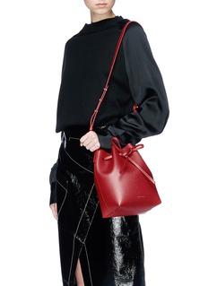 Mansur Gavriel 'Mini' saffiano leather bucket bag