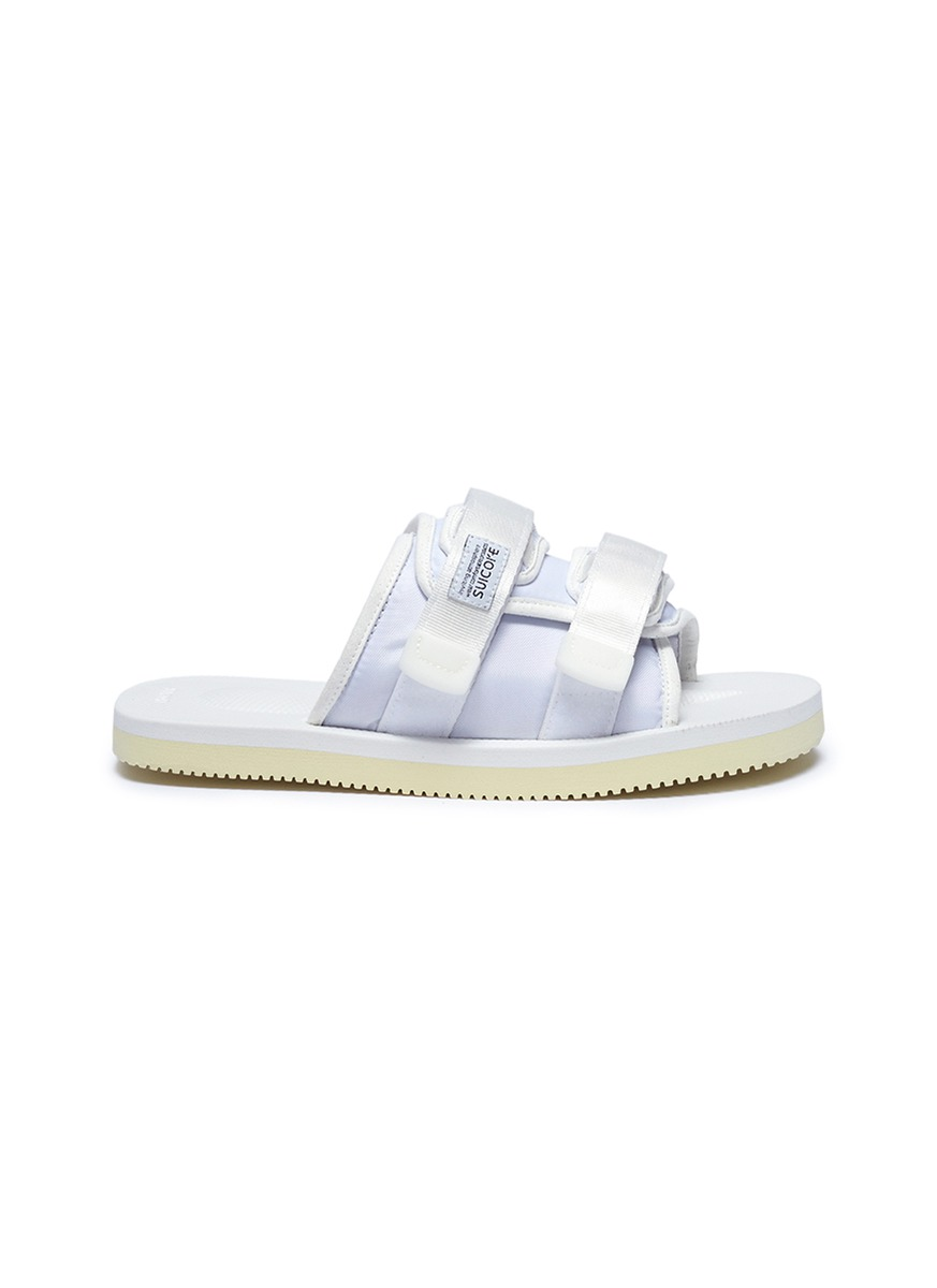 MOTO-Cab strappy band slide sandals by SUICOKE