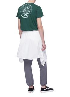 Second/Layer Spiral logo print cotton-linen T-shirt