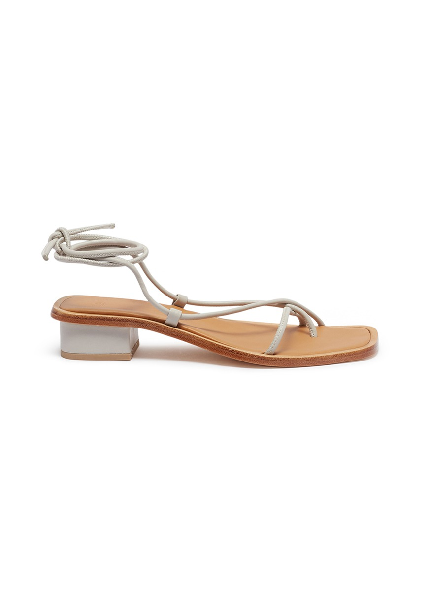 Ara ankle tie leather strappy sandals by LOQ