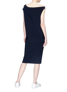 Norma Kamali Asymmetric shoulder sleeveless dress