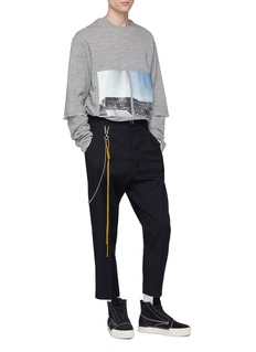 Song for the Mute Rope chain wool gabardine pants