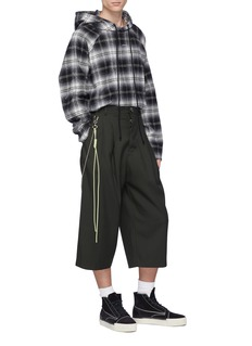 Song for the Mute Rope chain cropped wool gabardine pants