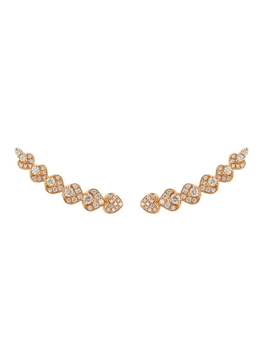 Diamond 18k rose gold earrings