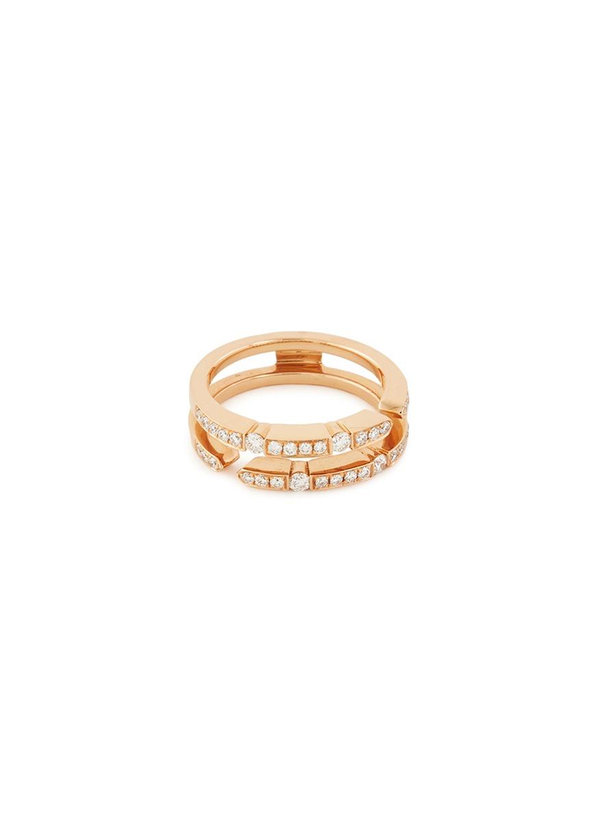 'Versatile' diamond 18k rose gold ring