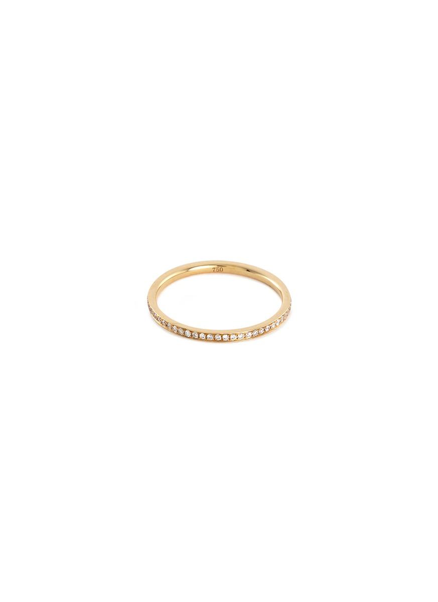 Diamond 18k yellow gold eternity ring