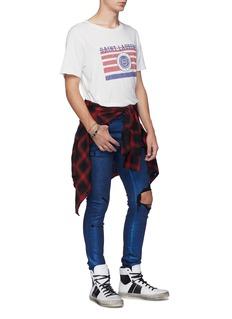 Amiri Foil denim ripped skinny jeans