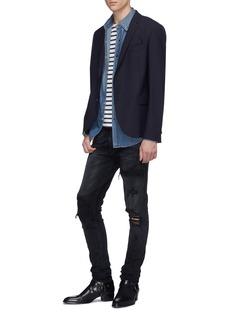 Amiri 'MX1' denim patch ripped jeans