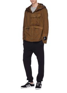 adidas x C.P. Company  'Explorer' 3-Stripes sleeve Goggle hood jacket