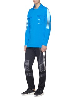 adidas x Oyster Holdings '48 Hour' chest pocket 3-Stripes long sleeve T-shirt