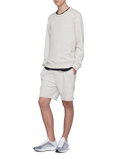The Upside 'OM' raw cuff sweat shorts