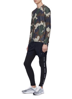The Upside Camouflage print performance long sleeve T-shirt