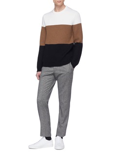 Theory 'Romman' colourblock Merino wool sweater