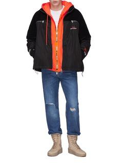 Heron Preston 'Handle With Care' slogan print zip hoodie
