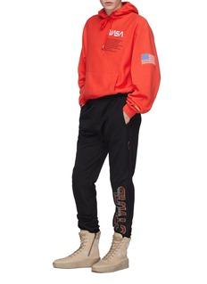 Heron Preston x NASA logo embroidered hoodie