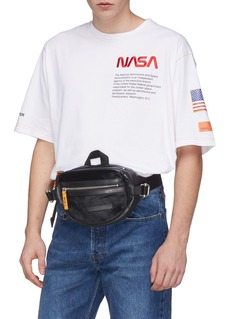 Heron Preston Hair panel leather bum bag