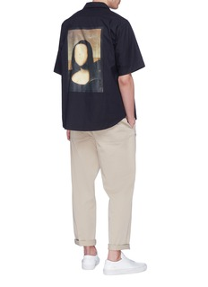 Pablo Rochat Mona Lisa's Tongue 1503' print short sleeve shirt