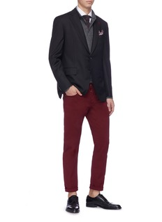 ISAIA Slim fit twill chinos