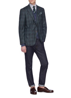 ISAIA 'Gregory' tartan plaid brushed wool blazer