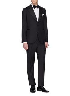ISAIA 'Ferdinando' Aquaspider wool twill tuxedo suit