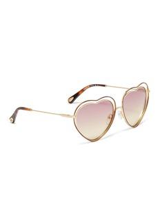 Chloé 'Poppy' metal heart frame sunglasses