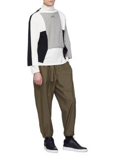 A-COLD-WALL* Colourblock Merino wool-dralon® mix knit cropped sweater