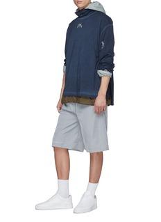 A-COLD-WALL* Logo print zip layered back long sleeve turtleneck T-shirt