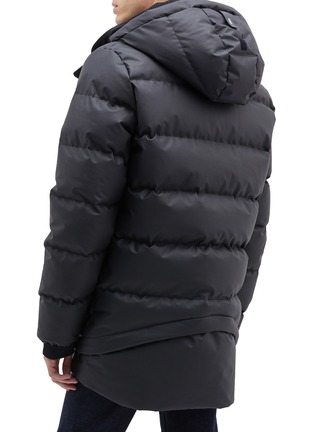 Back View - Click To Enlarge - Templa - '4L' double hood down puffer jacket