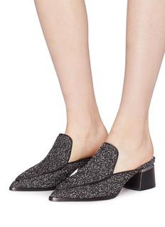 Nicholas Kirkwood 'Beya' metal heel bouclé loafer mules