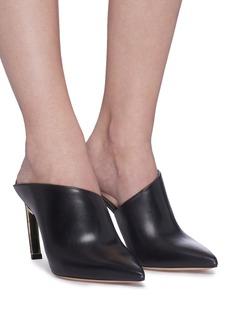 Nicholas Kirkwood 'Mira Pearl' angled heel leather mules