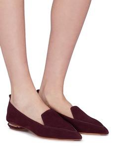 Nicholas Kirkwood 'Beya' metal heel suede skimmer loafers