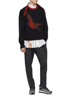 Necessity Sense Swallow jacquard boxy sweater