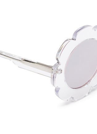 Detail View - Click To Enlarge - Sons + Daughters - 'Pixie' flower frame acetate mirror kids sunglasses