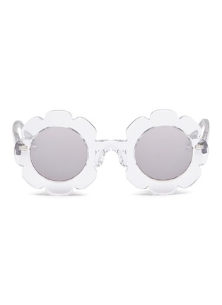 Main View - Click To Enlarge - Sons + Daughters - 'Pixie' flower frame acetate mirror kids sunglasses